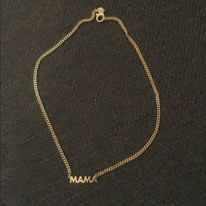 Jewelry - MAMA nameplate gold necklace